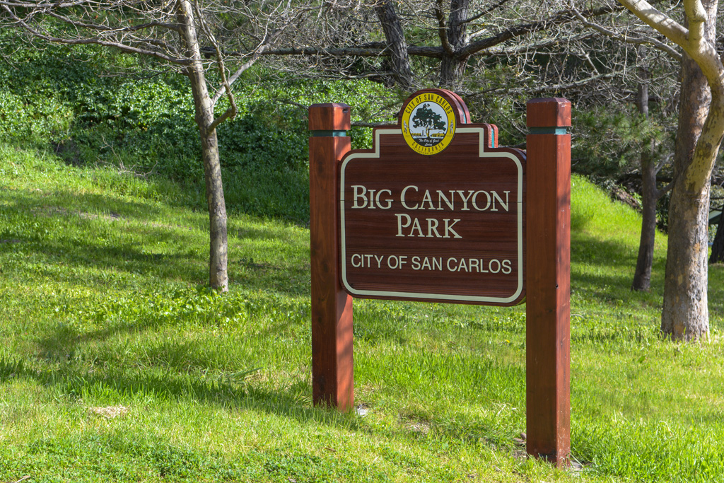 Big Canyon Park Sign
