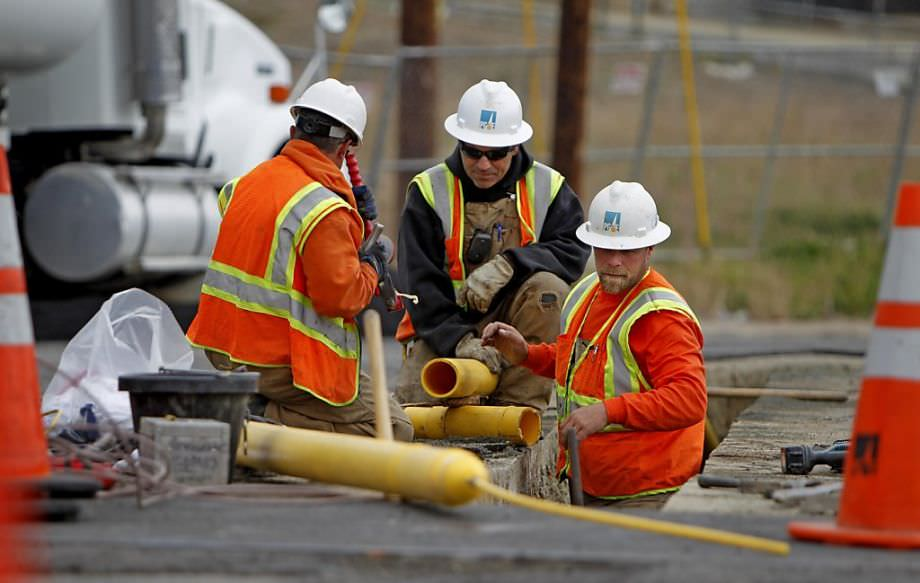 PG&E Work on Brittan Avenue